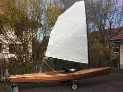 ARTEMIS sailing canoe built by Manfred